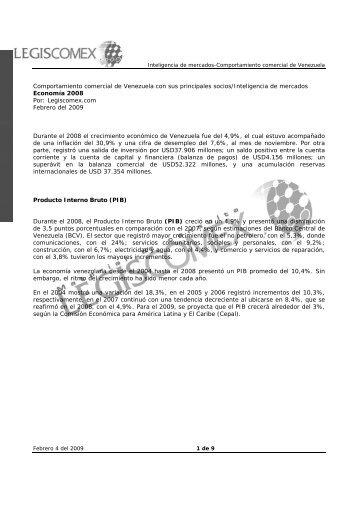 Comportamiento comercial de Venezuela con sus ... - Legis Comex