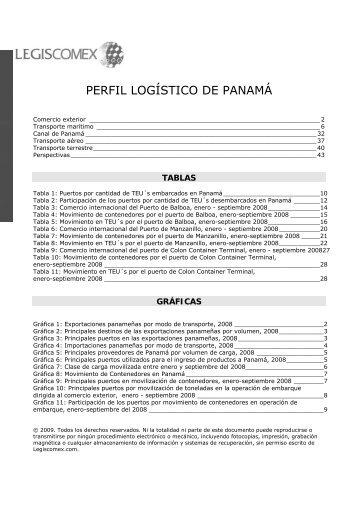 PERFIL LOGÍSTICO DE PANAMÁ - Legis Comex