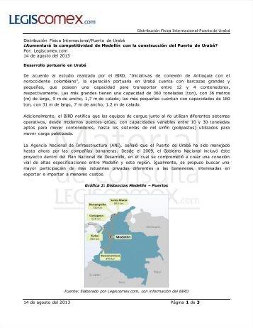 Desarrollo portuario en Urabá - Legis Comex