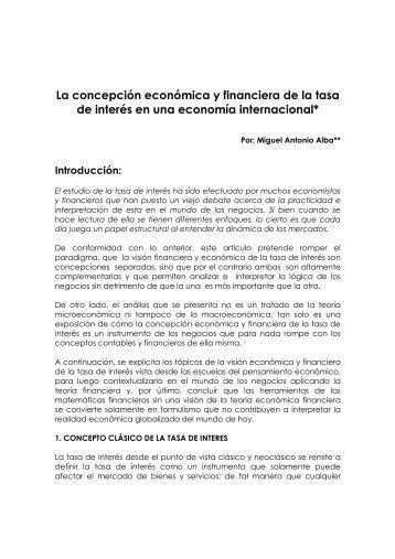 CONCEPTO ECONOMICO Y FINANCIERO DE LA ... - Legis Comex