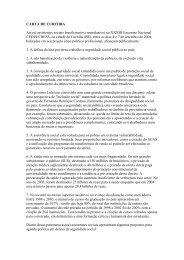 CARTA DE CURITIBA As(os) assistentes sociais ... - CFESS