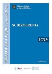 """Protocol clinic naţional: """"Schizofrenie"""" - Ministerul Sănătăţii"""