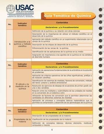 Guía Temática de Química - Nuevos USAC