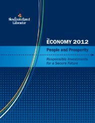 2012 - Economic Research - Government of Newfoundland and ...