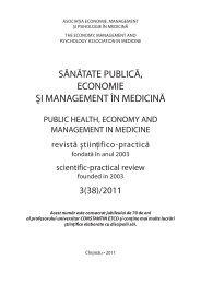 3(38)/2011 - Şcoala de Management în Sănătate Publică