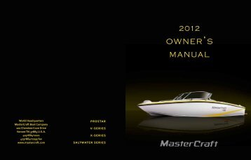 2012 MasterCraft Owners Manual