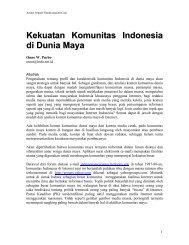 Kekuatan Komunitas Indonesia di Dunia Maya - E-Learning