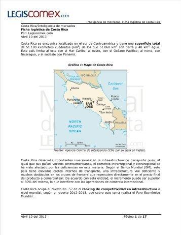 Ficha logística de Costa Rica completa - Legis Comex