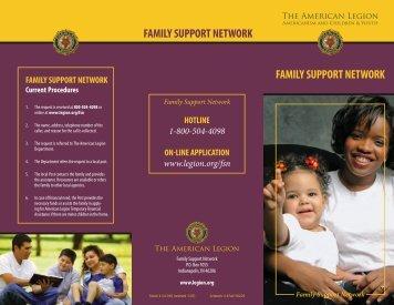 FAMILY SUppORT NETWORK FAMILY SUppORT NETWORK