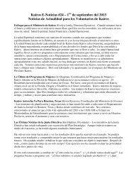 E-Noticias #24 de Kairos 1/9/13