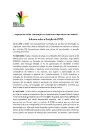 Informe do CFESS sobre os Projetos de Lei