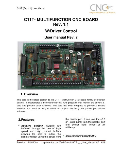C11T- MULTIFUNCTION CNC BOARD Rev  1 1 - CNC4PC