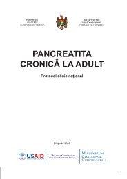 PANCREATITA CRONICĂ LA ADULT - Ministerul Sănătăţii