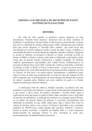 Lei Orgânica Municipal - Câmara Municipal de Vereadores Santo ...