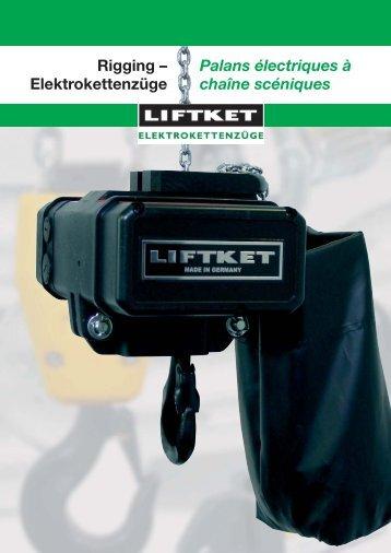 Rigging – Elektrokettenzüge Palans électriques à chaîne ... - liftket.ch