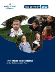2010 - Economic Research - Government of Newfoundland and ...
