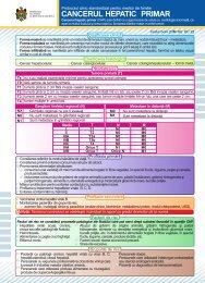 CANCERUL HEPATIC PRIMAR.cdr - Ministerul Sănătăţii
