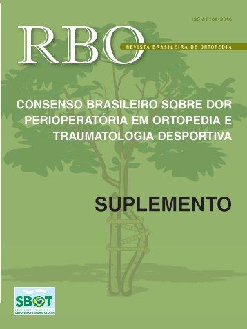 Consenso Brasileiro sobre Dor Perioperatória em Ortopedia e ...