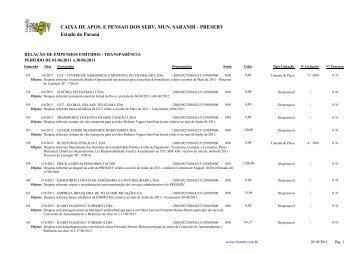 Empenhos Emitidos - Junho - Preserv