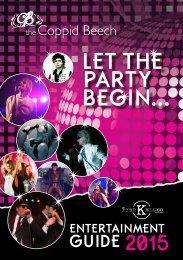 Bier Keller Entertainment Guide 2015