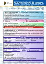 Tulburările afective de dispoziţie - Ministerul Sănătăţii