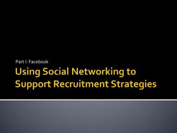 Using Social Networking to Support Recruitment ... - ABC Signup