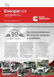News Energia Total - Edição Abril/2009 - Cummins Power Generation