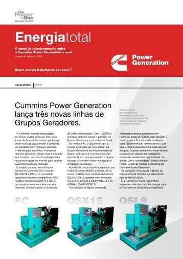 News Energia Total - Edição Janeiro/2009 - Cummins Power ...
