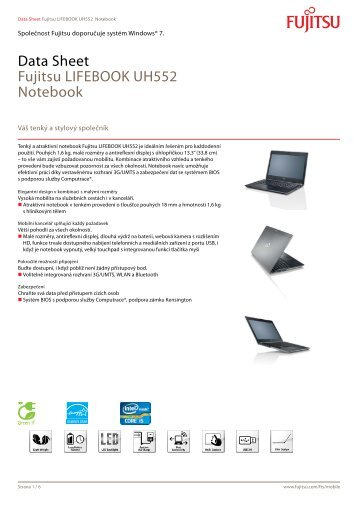 Data Sheet Fujitsu LIFEBOOK UH552 Notebook