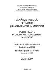sănătate publică, economie şi management în medicină - Şcoala de ...