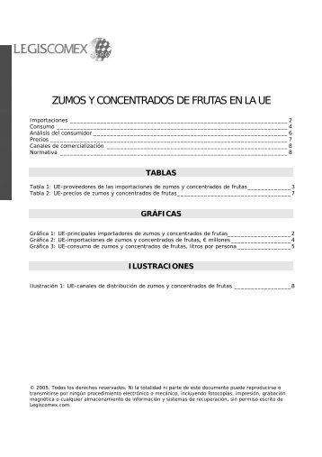 ZUMOS Y CONCENTRADOS DE FRUTAS EN LA UE - Legis Comex