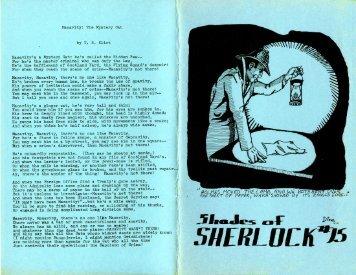 Macavity - Shades of Sherlock