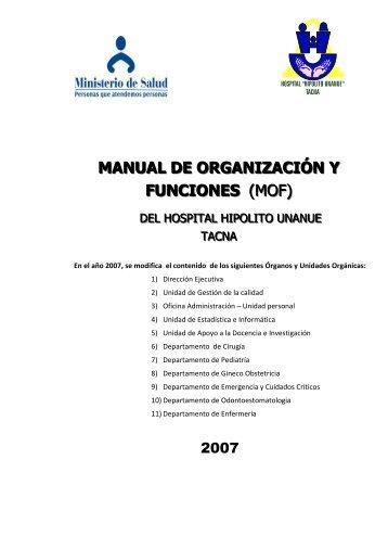 MOF - Hospital Hipolito Unanue - Direccion Regional de Salud Tacna