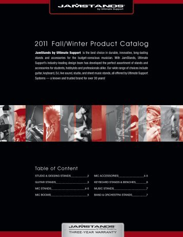2011 Fall/Winter Product Catalog