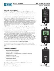 SR 4/3/2 DATA SHEET - Pro Audio and Lighting