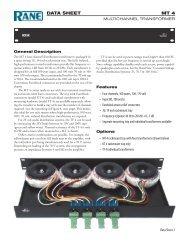 MT 4 Data Sheet - Pro Audio and Lighting