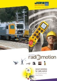 secure solutions for radio control of infrastructure machinery