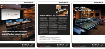 C300 HD brochure - Solid State Logic