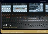 C10 HD Brochure - Solid State Logic