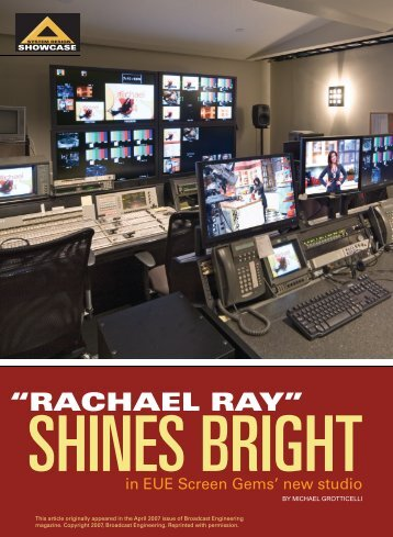 """Rachael Ray"" shines bright in EUE Screen Gems - Solid State Logic"