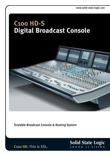 C100 HD-S Digital Broadcast Console - audiomonde
