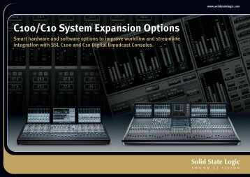 System Expansion Options Brochure - Solid State Logic