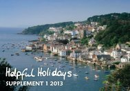 SUPPLEMENT 1 2013 - Helpful Holidays
