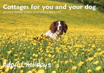 Cottages for you and your dog - Helpful Holidays