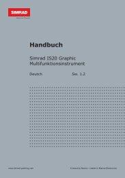 Simrad IS20 Graphic Handbuch Deutsch - Yabonet Yachtshop