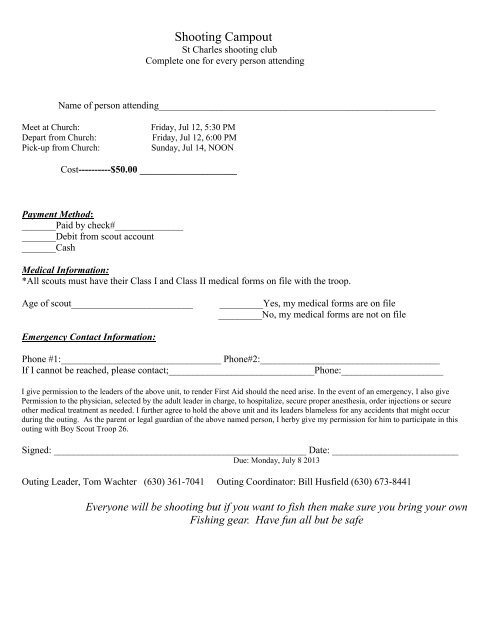 Permission Slips Forms Online Forms Allow Your Parents To Easily
