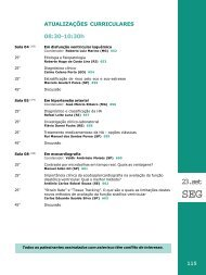 Dia 23/09 - Segunda-feira - 66 Congresso Brasileiro de Cardiologia