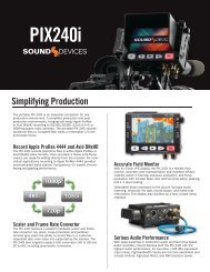 PIX 240i Product Fact Sheet - Sound Devices, LLC
