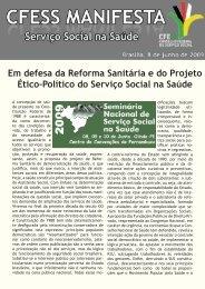 Seminário Nacional de Serviço Social na Saúde - CFESS
