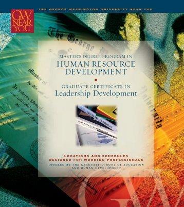 Download a program brochure - The George Washington University